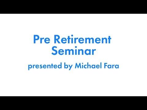 March, 2020 Pre-Retirement Webinar