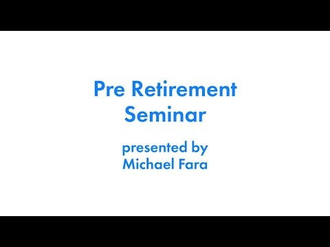 March, 2021 Pre-Retirement Webinar